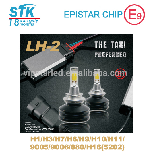led head light 30w h7 new fan car