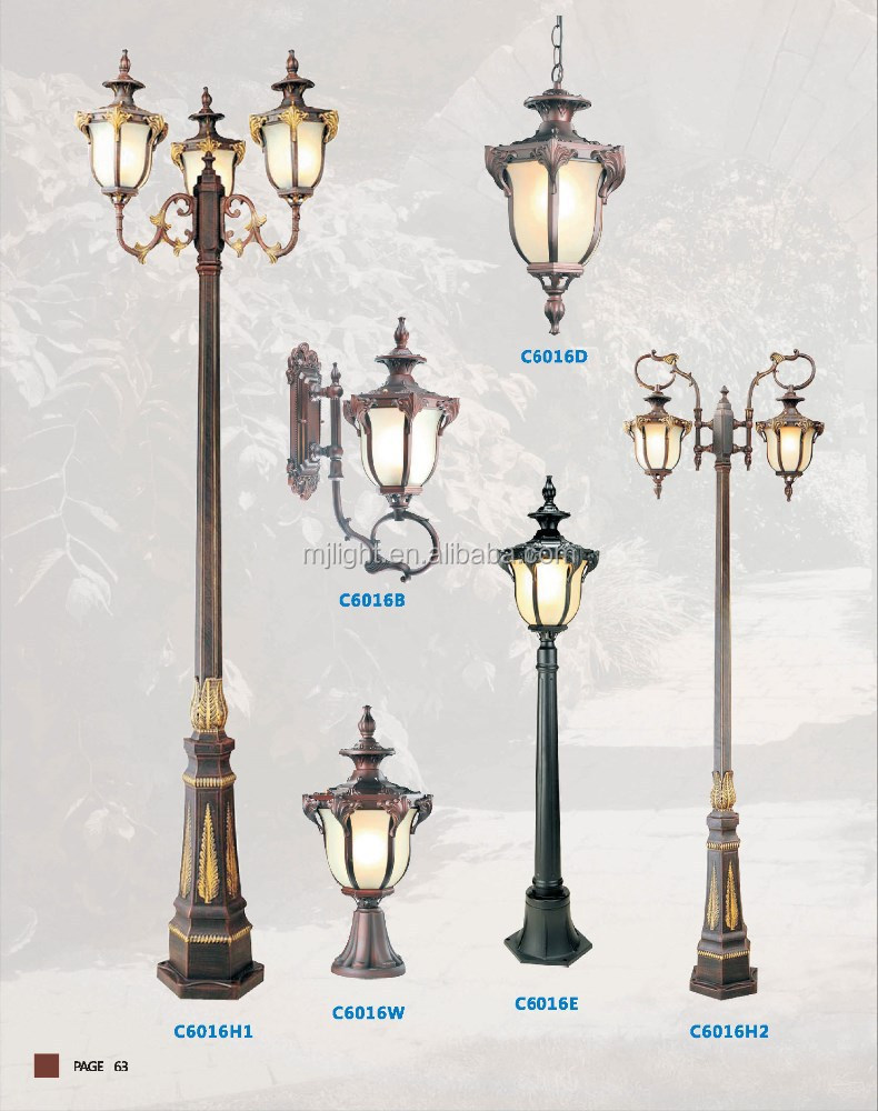Декоративный античный алюминиевый светодиодный светильник для сада