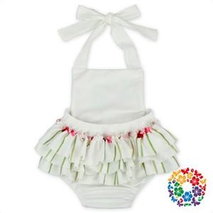 a9f3695f906 Plain Baby Girl Bubble Romper