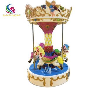 Factory price merry go round carousel for sale inflatable christmas musical carousel rides 3 seats mini kids carousel horse