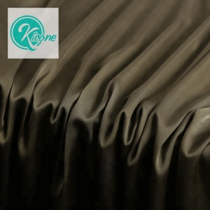8013# China Supplier Kicone Factory Polyester Dyed Shiny Heavy Stretch Satin Fabric