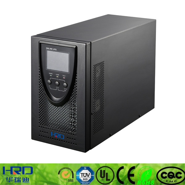 ET series single phase online ups connected to external battery 1000va 3000va