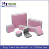 luxury velvet jewelry box series in different colour for ring/necklace/bracelet/earings