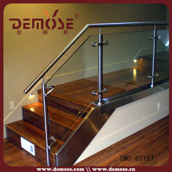 Stair Interior Glass Railing Systems/glass Railing Detail/ss Railing With  Glass