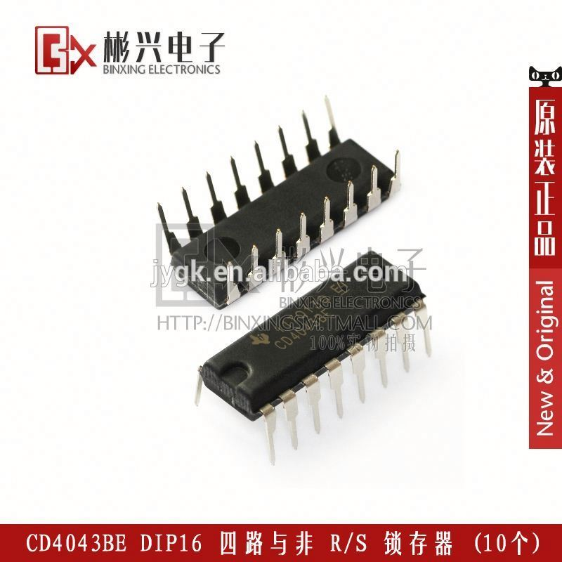 DIP16 CMOS Quad with non- R / S latch line Chip Electronic Component New IC CD4043BE