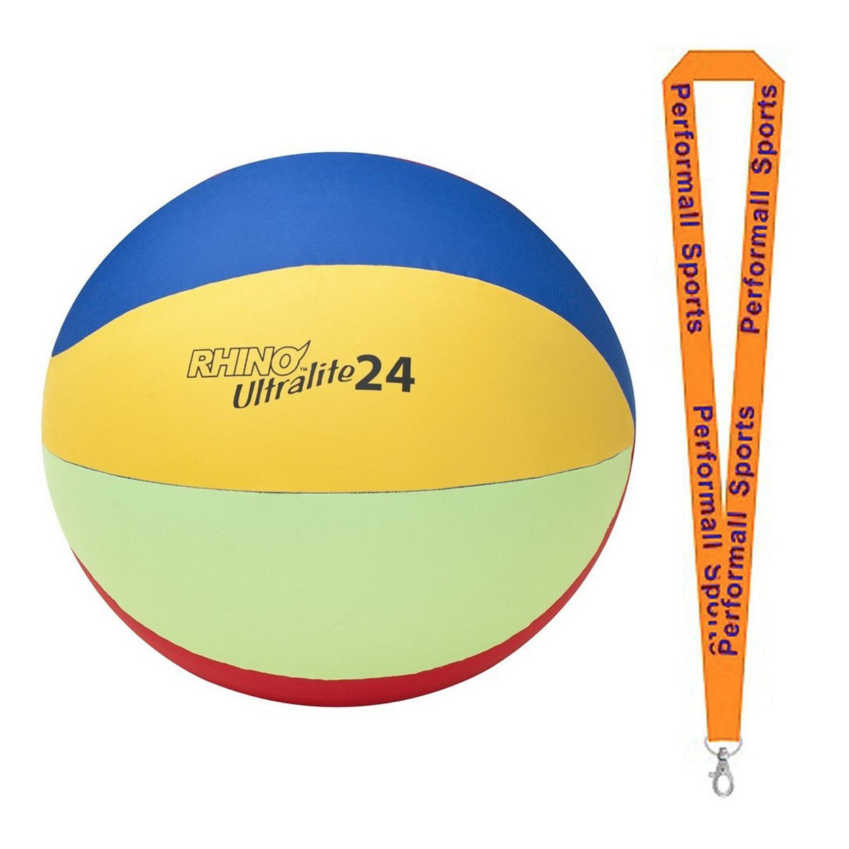 Champion Sports Bundle: Cage Ball Replacement Ultra-Lite Cover Assorted Colors and Sizes with 1 Performall Lanyard