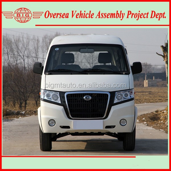 4 by 2 drive van vehicle with gasoline or cng or electric fuel mini van (knocked down kits available for local assembling)