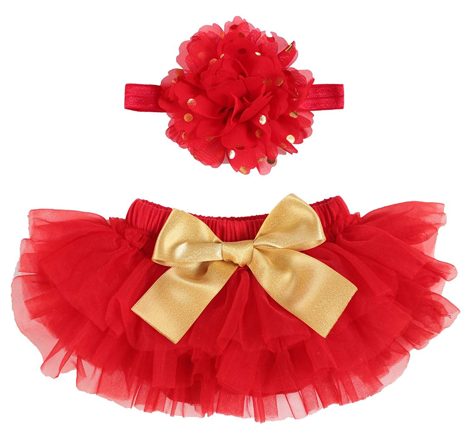 4fd94cf44 Get Quotations · OoSweetCharlotteoO 2pcs Baby Girl Christmas TUTU Bloomer Outfit  Newborn Photo Prop