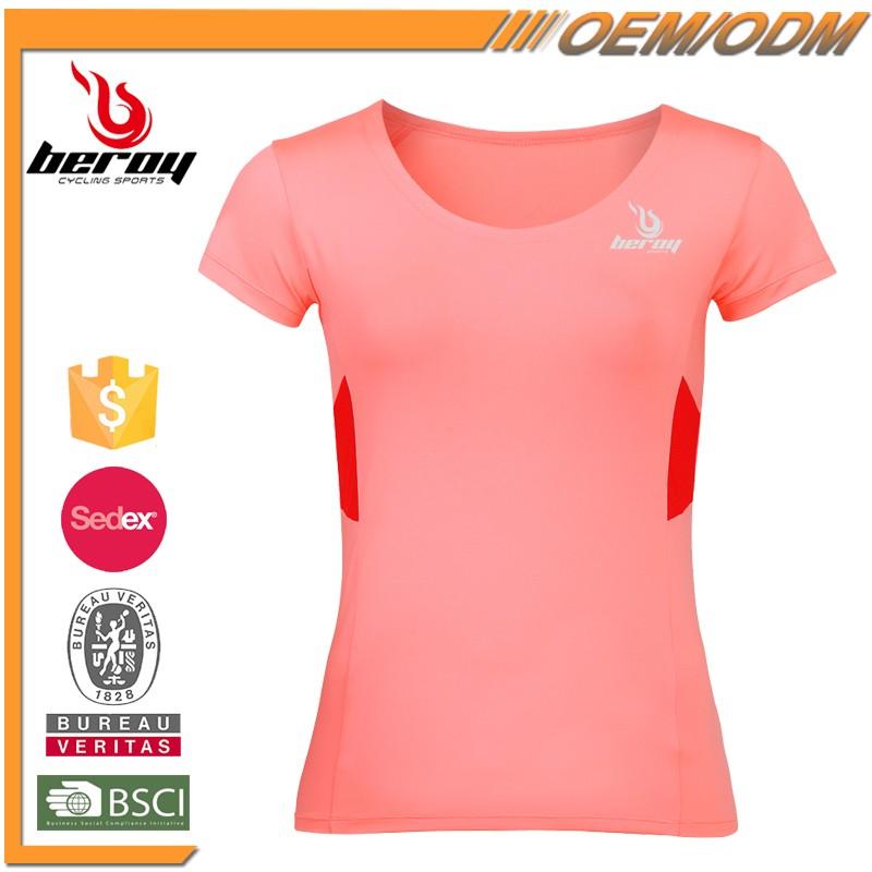 Beroy 2016 Latest Hot Selling Sweat Activated T Shirt with Custom Logo