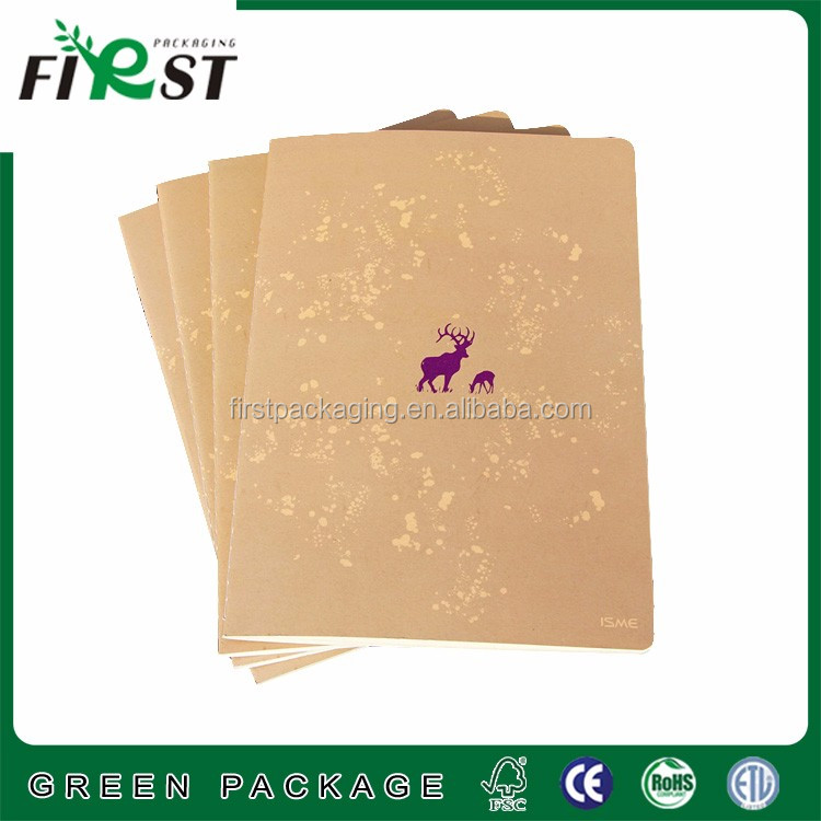 Beautiful custom design four lined paper line notebook
