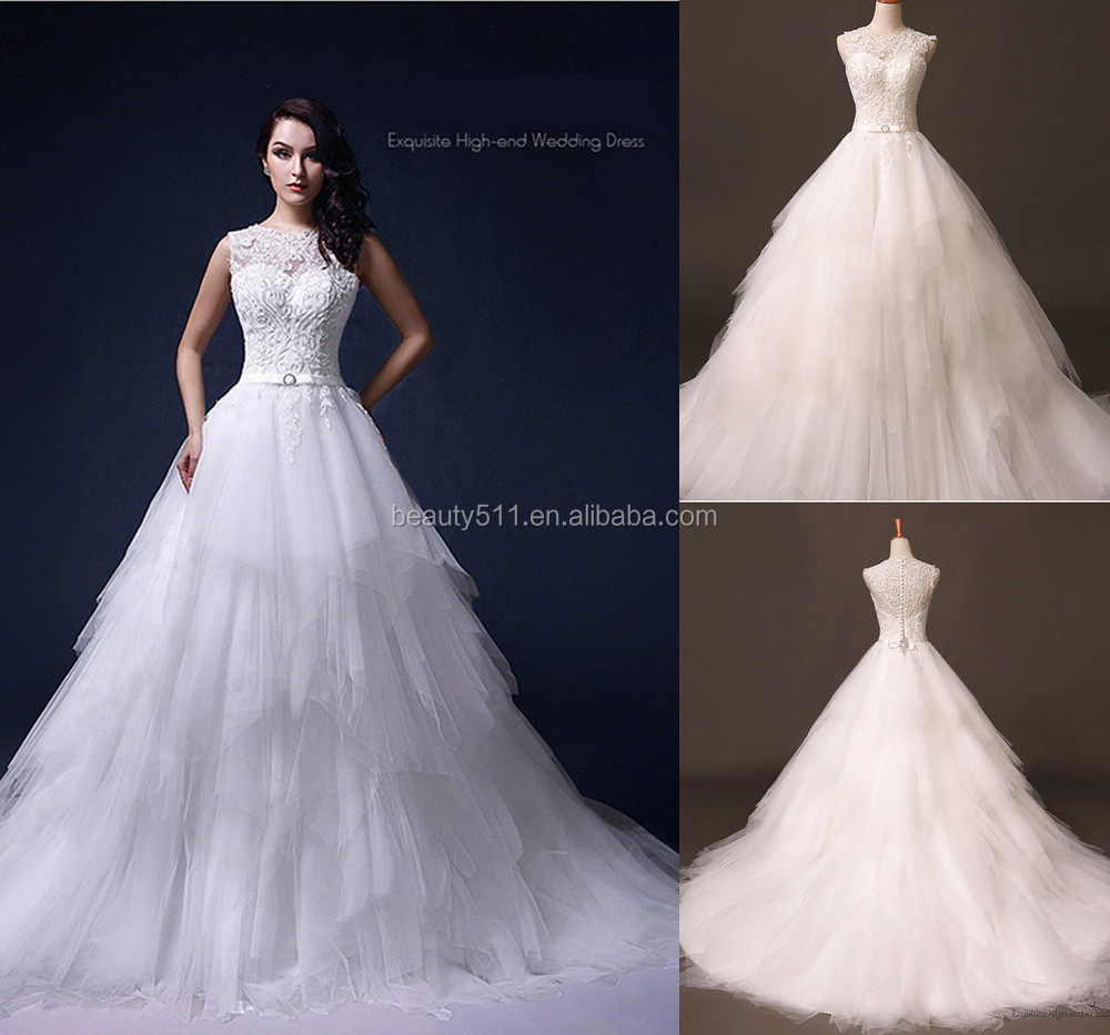 Real Wedding Dress Photo2017 Beaded A Line One Shoulder Sleeveless Gauze  Feather Plus Size