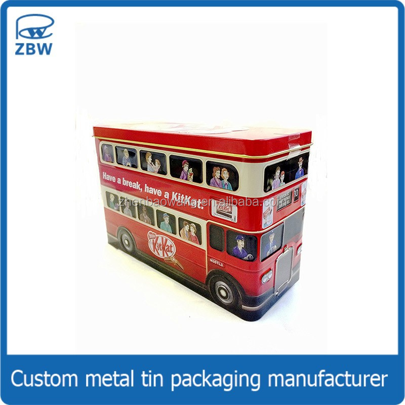 London style bus shape tin box for chocolate/cookie/tea tin can packaging