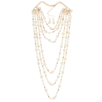 Fashion Women Newest pearl necklace set baroque pearl necklace