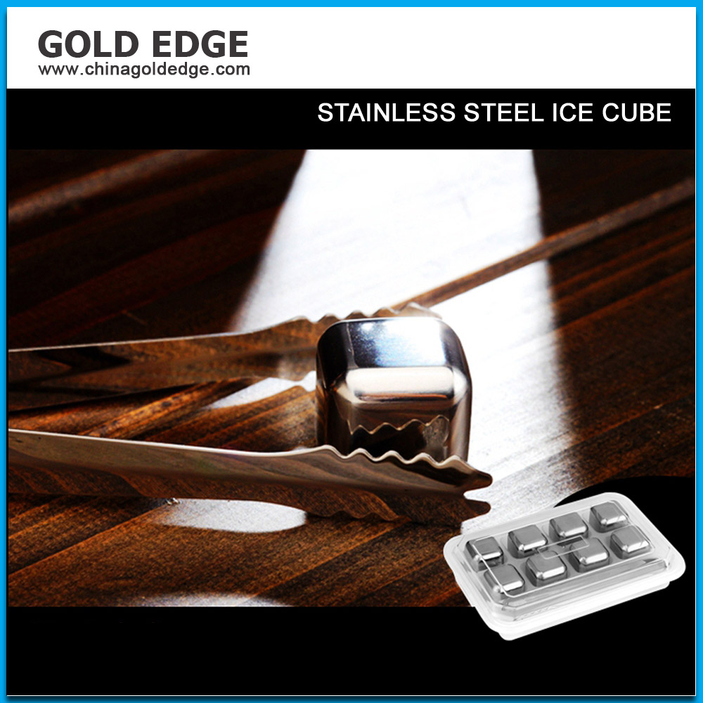 Cheap Decorative Stainless steel dice ice cube factory price