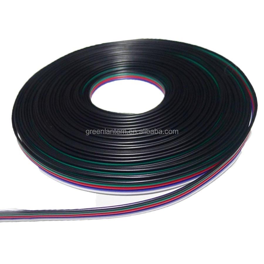 RGB Verlängerungskabel für LED Streifen 4 PIN 0,5 1 2 3 5 10 Meter weiß schwarz