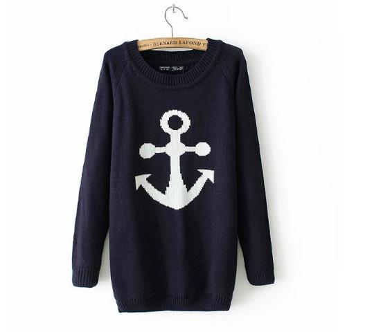 New listing anchor brand women sweaters and sweater autumn and winter fashion casual bike Kintwear sweater SML