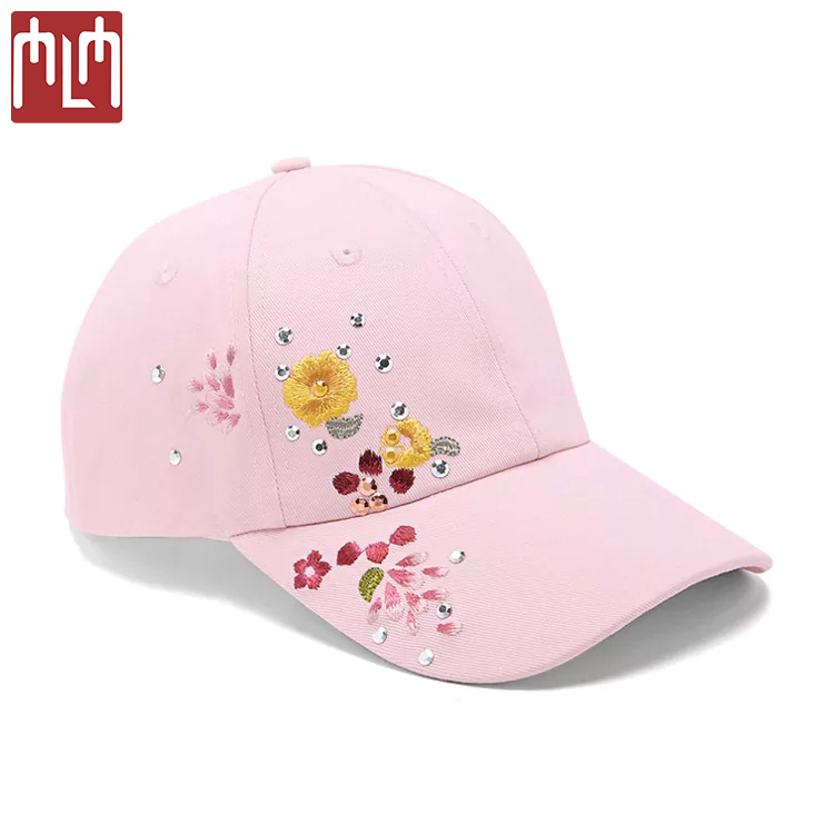 0492d7e1c902c Custom 6 Panel Side Embroidered Floral Baseball Cap