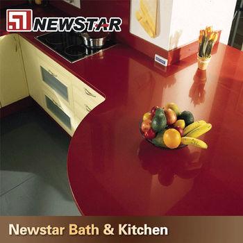 Newstar Pas Cher Rouge Comptoir De Quartz De Cuisine Prix Inde
