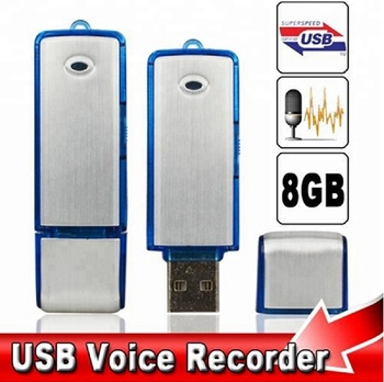 2 in 1 Mini 8 GB USB 2.0 Spy Digital Voice Recorder Wiederaufladbare Aufnahmestift Sound Audio Recorder 150 Stunden WAV-Format