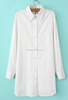 New coming woman shirt sublimation cotton white dress shirt long sleeve blouse design