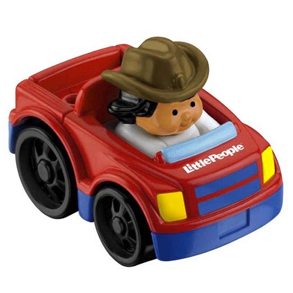 Fisher Price Little People Wheelies Vehicle PICK UP TRUCK with farmer jade
