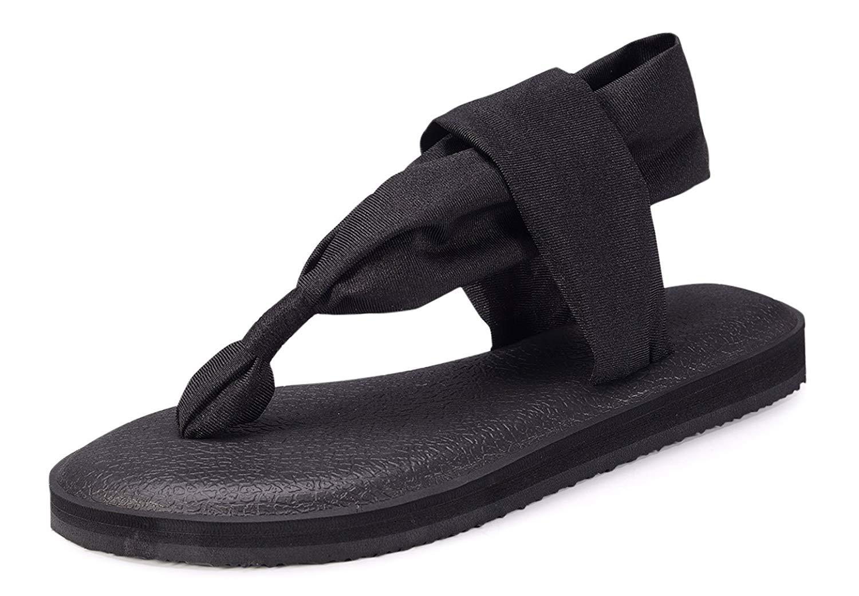488c83987e46a6 ... Get Quotations · KARIDO Women s Slingback Lightweight Yoga Mat Thong  Flip Flop factory outlets 50c1f ...