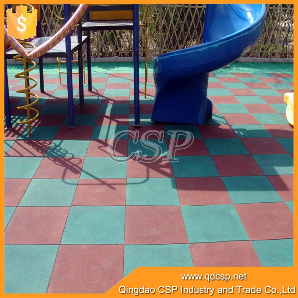 Oxidation resistance heat reservation outdoor playground rubber play mat for kids