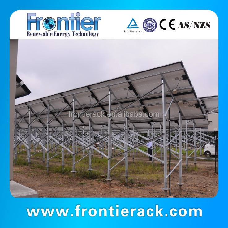 Galvanized Steel ground Solar mounting structures