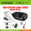 wholesale white USB GUITAR to PC INTERFACE CABLE LINK AUDIO VOCAL RECORDING