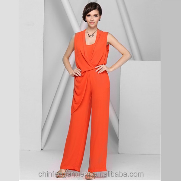 Orange Womens Jumpsuit