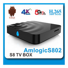 4k2k Quad core tv box H.264 decode best design house of aml water drop type