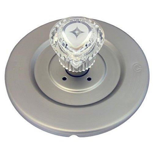 Simpatico 31661SN Moen Shower Chateau Series Trim Kit with Brass Escutcheon Screws Tube and Handle, Satin Nickel