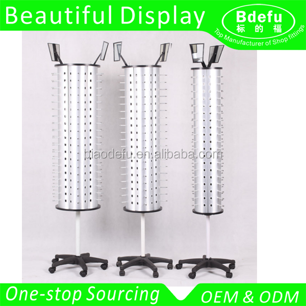 Floor free Standing Display Rack rotating Display Stand for Sunglasses