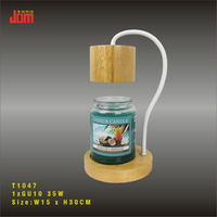 candle lamp/wood table lamp/ wood candle warmer