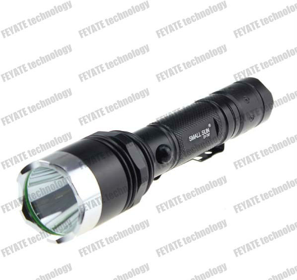 led rechargeable torch light super bright small sun ZY-T97 flashlight 1000 Lumens 5-Modes CREE XM-L T6 CREE LED Flashlight