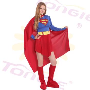 Women Buy Cheap Female Superman Cosplay Costume Hero Dress - Buy ...