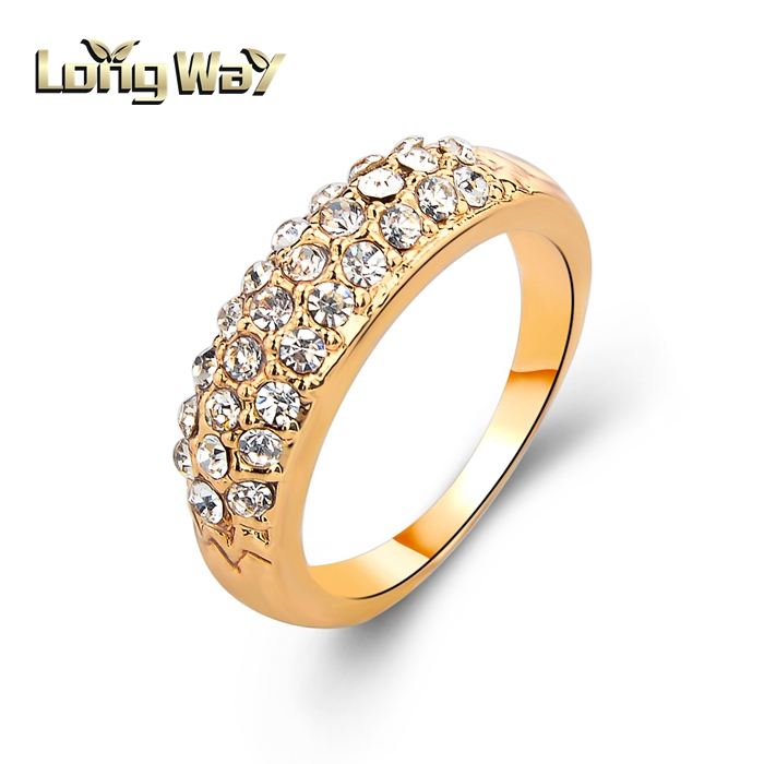 2015 New Design Fully Rhinestones God Wedding Ring For Women, View ...