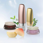 Hot selling cosmetic acrylic bottle cosmetic airless cream glass jar