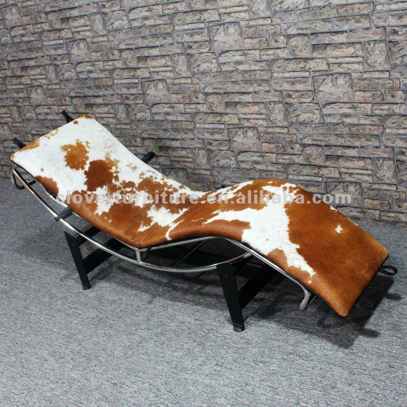 lc4 chaise peau de vache chaise-chaise longue-id de produit ... - Chaise Longue Le Corbusier Vache