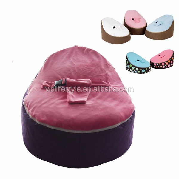 Awesome Hot Sale Velvet Top Microsuede Pvc Base Infant Pvc Base Infant Baby Bean Bag Chair With Harness Factory Buy Baby Bean Bag Chair With Harness Kids Gmtry Best Dining Table And Chair Ideas Images Gmtryco