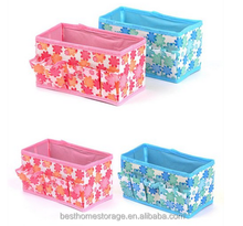 Makeup Cosmetic Storage Box Bag Bright Organiser Foldable Makeup Stationary Container/cosmetic bag