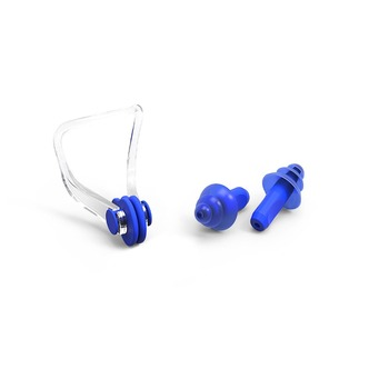 Swimming oem unisex adults earplugs and nose clip swim set