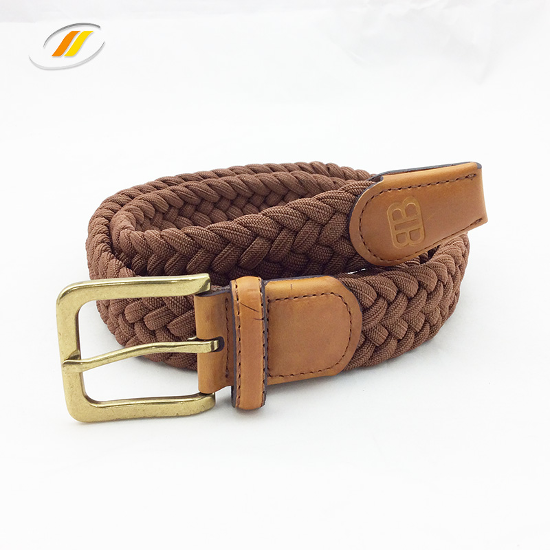 Multicolored Braided Elastic Fabric Knitted Belts