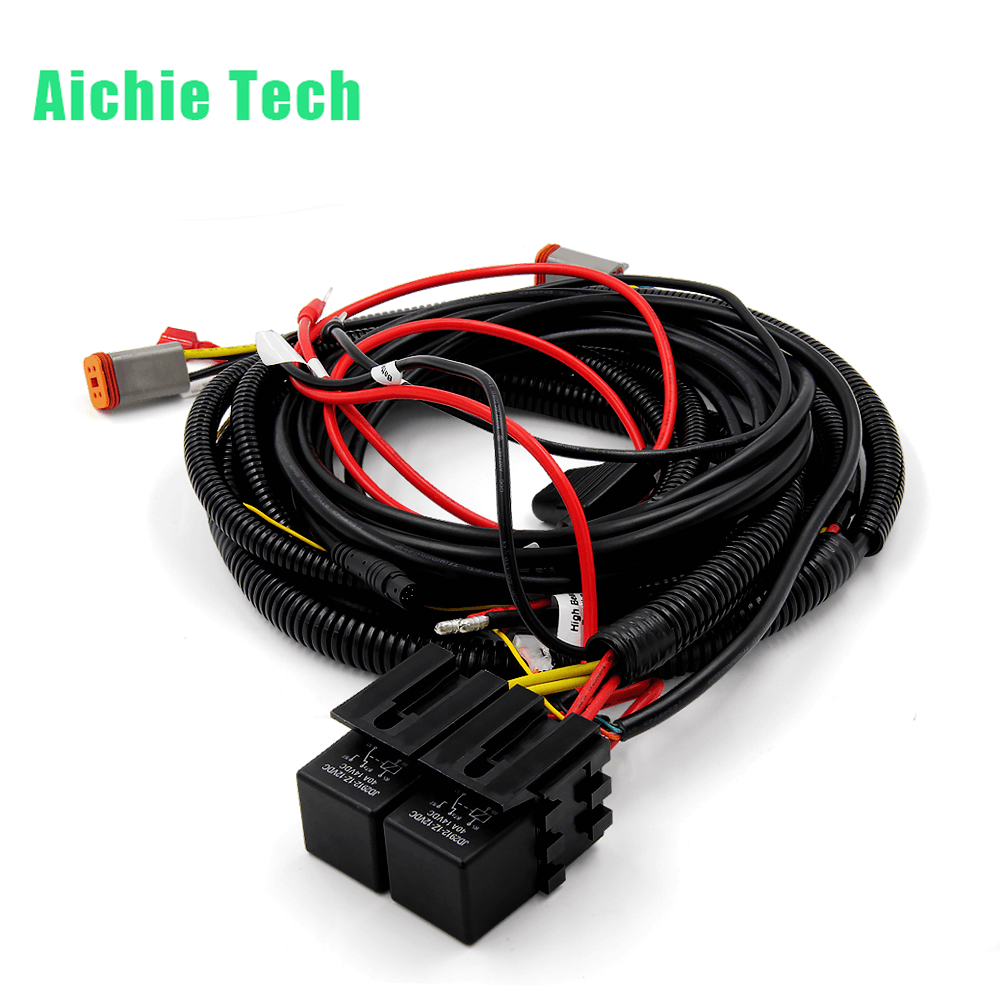 Oem Odm Auto Window Control Wiring Harnesses Black White Red Waterproof Custom Harness Assembly