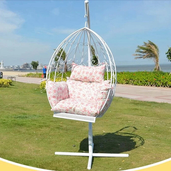 2016 Hot Selling Metal Stand Outdoor Garden Hanging Egg Basket Swing Chair