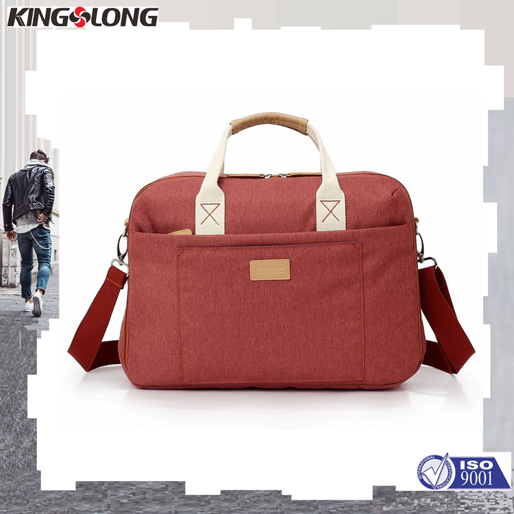 Kingslong Multi-function Documents Dag Conference Briefcase With Back Luggage Strap