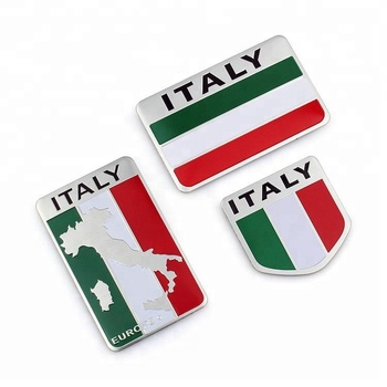 Flag 3D Chrome Aluminium Metal Sticker Emblem Badge Logo for Car