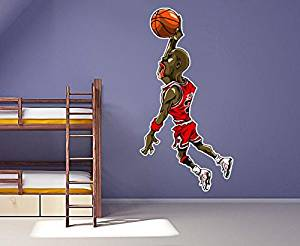 Get Quotations · 4 Ft Michael Jordan Wall Decal Air Jordan Basketball  Character Vinyl Decal Sticker