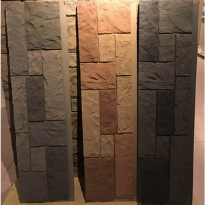 Polyurethane Beauty Cheap Decorative Easy Installation Wall PU faux plastic stone wall panels