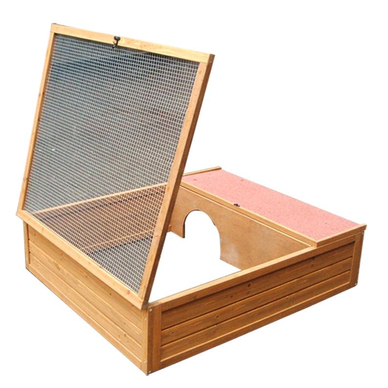 En bois tortue maison cage caisse transporteur maison for Caisse en bois pour potager